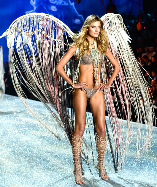 Constance Jablonski, in Lost Art Wings, at the 2013 Victoria's Secret Fashion Show at Lexington Avenue Armory on November 13, 2013 in New York City. Photo by BFA